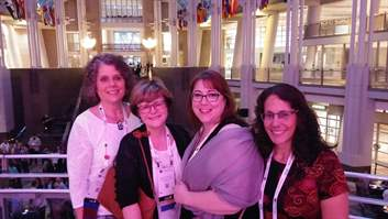 Teresa Zumwald, Pat Frey, Connie Feick and Amy Miller at World Conference opening reception.jpg